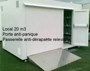 Conteneur DMS incombustible - Volume de stockage: 30 m³