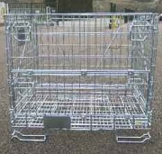 Conteneur en fil grillagé repliable 800 Kg - Capacité admissible : 800 kg