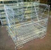Conteneur en fil industriel 800 Kg - Capacité admissible : 800 kg  -  Gerbable 4/1