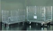 Conteneur en fil industriel avec roulettes - Avec roulettes et deux portes
