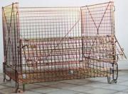 Conteneur en fil pliable industriel - Capacité de charge : 1000 kg