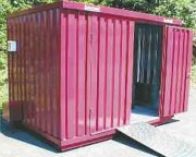 Conteneur extérieur de stockage produit dangereux - Capacité de charge sur le caillebotis : 1000 kg/m²