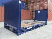 Conteneur flat rack - Pour charges encombrantes - Repliable - 20' et 40'
