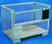 Conteneur grillagé en fil 1500 Kg - Capacité de charge : 1500 kg