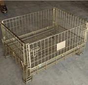 Conteneur grillagé faible hauteur - Capacité : 1000 kg  -  Gerbable 4/1