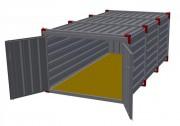 Conteneur métal de stockage - Hauteur : 1.50 m