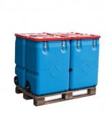 Conteneur mobile de stockage - Capacité : 170 - 250 L / Normes ADR, RID et IMDG