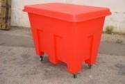 Conteneur plastique à roulettes - Capacité de 405 Litres - Charge de 5000 kg