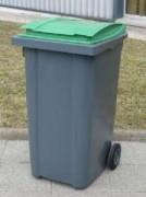 Conteneur poubelle à déchet - Dimensions (L x l x h): 580 X 728 X 1075 mm