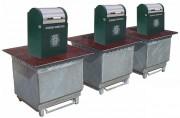 Conteneur poubelle enterré - Longueur de la plate forme : 1400 - 2600 - 3850 - 4840 mm