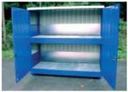 Conteneur pour fût - Dimensions extérieures (L x p x h) : de 4050 x 1550 x 2470 à 8050 x 1550 x 3200 mm