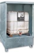Conteneur pour stockage cubitainer - Capacité de rétention : 1000 Litres - En acier