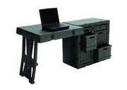 Conteneur rotomoulé mobile - 2 modèles : bureau simple ou double