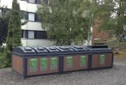 Conteneur semi-enterré pour déchets - De forme carré