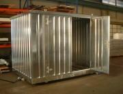 Conteneur stockage extérieur - Rétention en L : de 550 à 1700