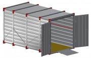 Conteneur stockage renforcé 3 m - Longueur : 3 m
