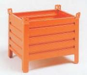 Conteneur tôlé petit volume à 4 côtés fermés - Charge admissible : 600 kg