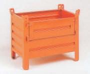 Conteneur tôlé petit volume à demi-porte pleine rabattable - Charge admissible : 600 kg