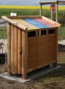 Conteneur tri sélectif pour déchets - Capacité : 240 L (3 x 80 L)