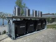 Conteneurs enterrés à assistance hydraulique 1 à 5 bacs - De 1 à 5 bacs de 1100 litres