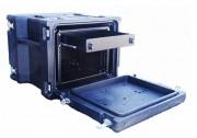 Conteneurs rotomoulés pour imprimante aux formats A3 et A4 - Châssis 19 pouces 8U suspendu par amortisseurs