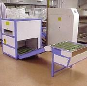 Contre plieuse de blanchisserie - Dimensions (L x P x H) mm : De 3430 x 870 x 1010 à 3430 x 1040 x 1280