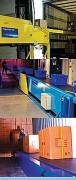 Convoyeur à bande télescopique industriel - Longueur : de 11650 à 21100 mm