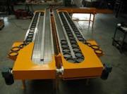 Convoyeur à chaîne à palette - Largeur standard : De 82,5 à 304,8 mm