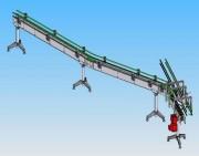 Convoyeur à chaîne à palettes - Larg., long., haut. :sur mesure