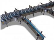 Convoyeur à chaîne palette - Construction châssis tôle épaisseur 3 mm, plié en «L»
