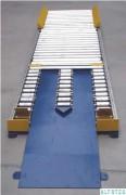 Convoyeur à rouleaux avec rampe d'accès pour transpalette à fourche - Avec rampe d'accès pour transpalette à fourche