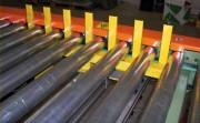 Convoyeur à rouleaux gravitaire acier - Manutention continue des produits à fond plat
