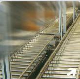Convoyeur à rouleaux pour alimentaire - Vitesse : 1 à 60m/mn