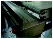 Convoyeur à tapis plastique rectiligne