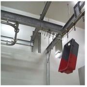 Convoyeur aérien inox - Poids admissible jusqu'à 30 kg avec barre d'attelage