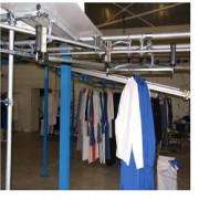 Convoyeur aérien pour pressing - Manutention aérienne manuelle pour stockage textile