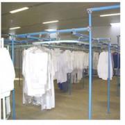 Convoyeur aérien pour stockage de vêtements - Nappe de stockage de vêtements