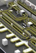 Convoyeur courbe à bande industriel - Concevoir, réaliser et installer des convoyeurs industriels