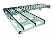 Convoyeur de transfert perpendiculaire - Diamètre rouleaux acier : 89 mm - Charges lourdes