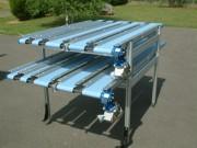 Convoyeur industriel à bande - Largeur (mm) : de  40 à  240