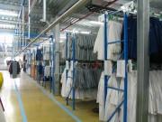 Convoyeur industriel manuel - Convoyeur manuel adapté à différents types de secteurs(agroalimentaires, blanchisseurs...)-capacité de charge maximum:1tonne