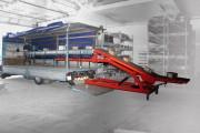 Convoyeur mobile à bande - Charge : 50 kg/m