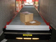 Convoyeur télescopique motorisé à rouleaux - Extension: de 5 m à 19 m