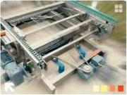 Convoyeur tournant à chaines - Angle 0 à 360°