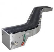 Convoyeur transporteur à bande - Matériaux: PA6 renforcé de fibres de verre, polyamide, tiges et maillons en acier inoxydable, antiglisse Desmopan (option)