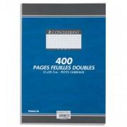 Copies doubles non perforées blanches 21x29,7cm 400pages 5x5 70g – Sous étuis CONQUERANT SEPT - CONQUERANT 7