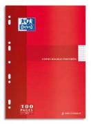 Copies doubles perforées blanche 21x29,7cm 100p SYES 90g – Sous étuis carton - oxford