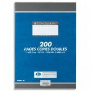 Copies doubles perforées blanches 21x29,7 cm 200 pages 5x5 70g – Sous étuis CONQUERANT SEPT - CONQUERANT 7