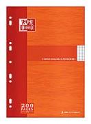 Copies doubles perforées blanches 21x29,7cm 200p SYES 90g – Sous étuis carton - oxford