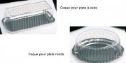 Coques pour plat - Plats ronds ou rectangulaires - plastique